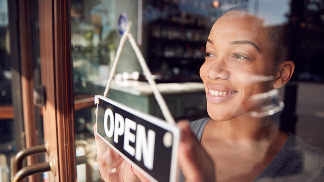 entrepreneur open for business
